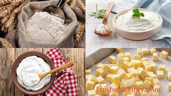 cách làm bánh scone kem