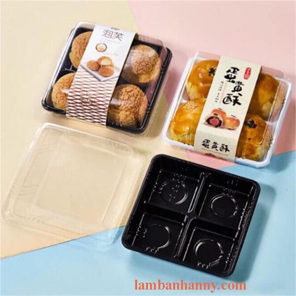 hộp nhựa đựng bánh Mochi 4 ô