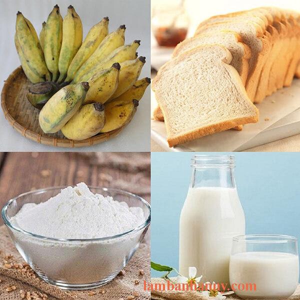 nguyên liệu bánh chuối nướng sữa tươi