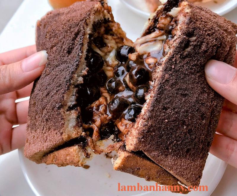 sandwich trân châu đường đen