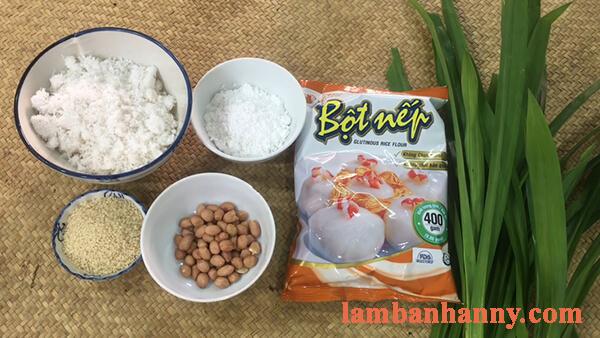 2 Cách làm bánh ít trần lá dứa nhân dừa và nhân đậu xanh đơn giản 1