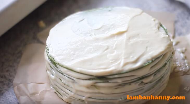 Bánh crepe ngàn lớp vị trà xanh - (13)