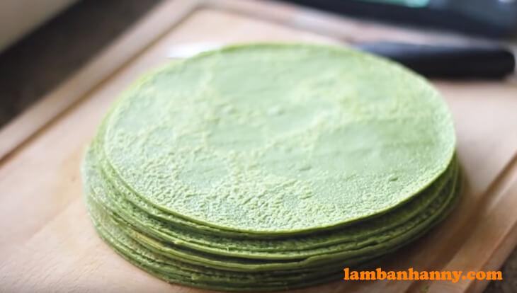 Bánh crepe ngàn lớp vị trà xanh - (7)