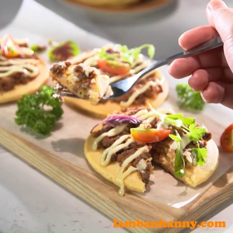 Bánh pancake thịt bò bằm - (15)