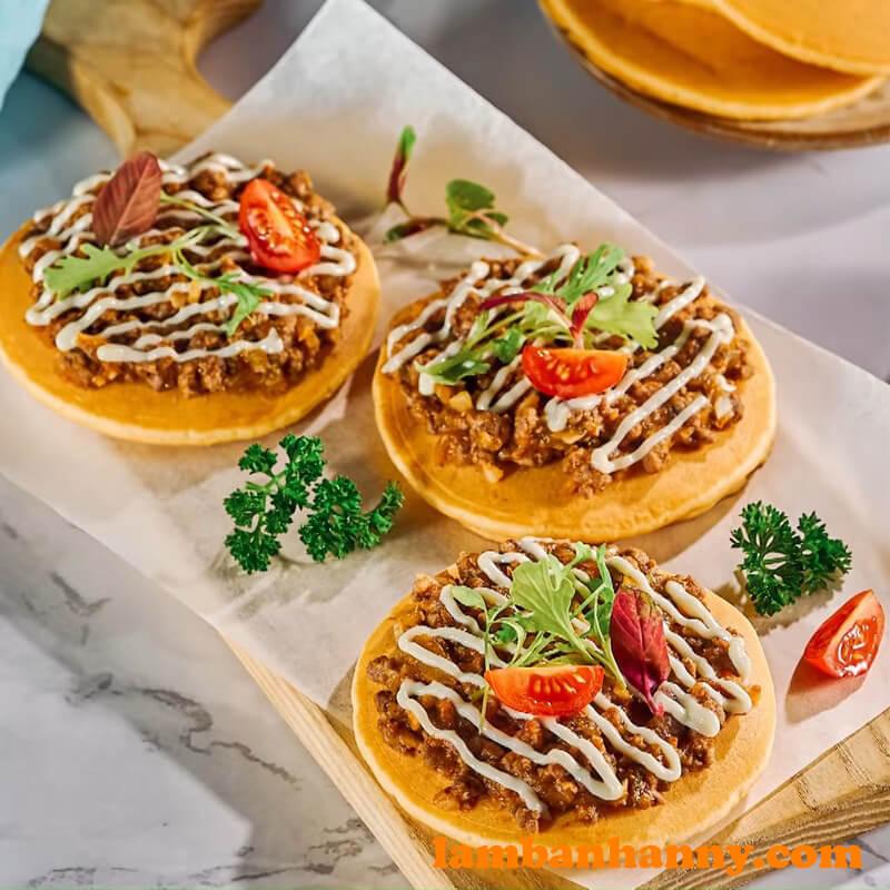 Bánh pancake thịt bò bằm - (16)