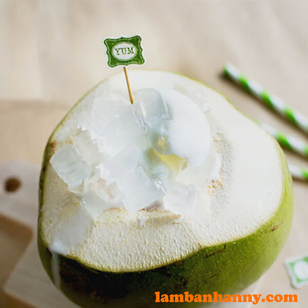 Bingsu trái dừa