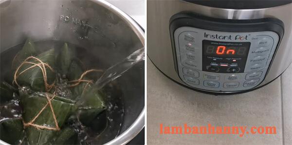Cách làm bánh ú gấc dừa nhân đậu xanh 9