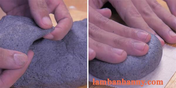Cách làm bánh mì mè đen nhân matcha trà xanh 3