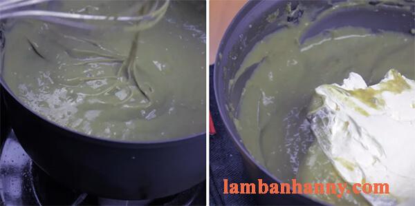 Cách làm bánh mì mè đen nhân matcha trà xanh 5