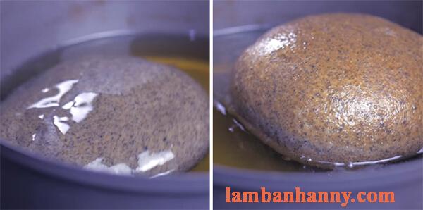 Cách làm bánh mì mè đen nhân matcha trà xanh 6