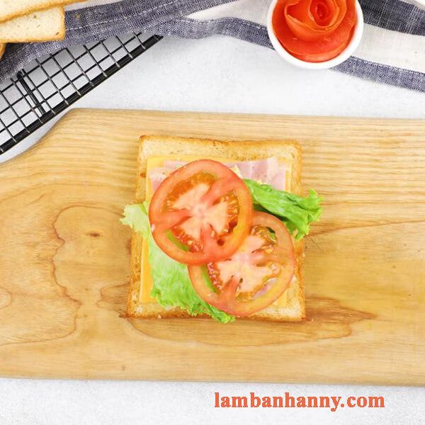 Cách làm bánh mì sandwich phô mai thơm béo đơn giản tại nhà 14