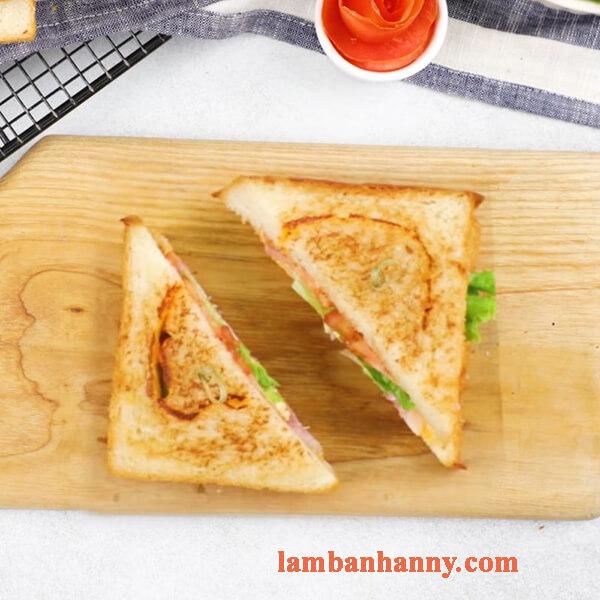Cách làm bánh mì sandwich phô mai thơm béo đơn giản tại nhà 16