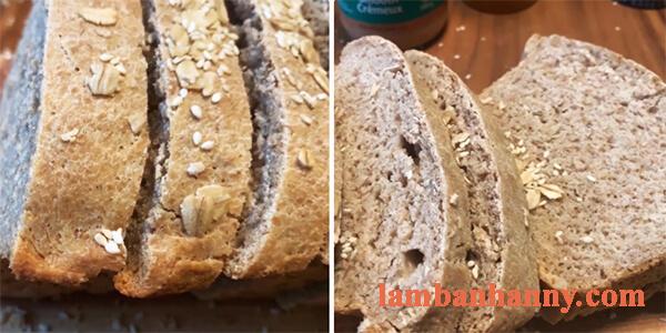 Cách làm bánh mì yến mạch nguyên cám dành cho người giảm cân 16