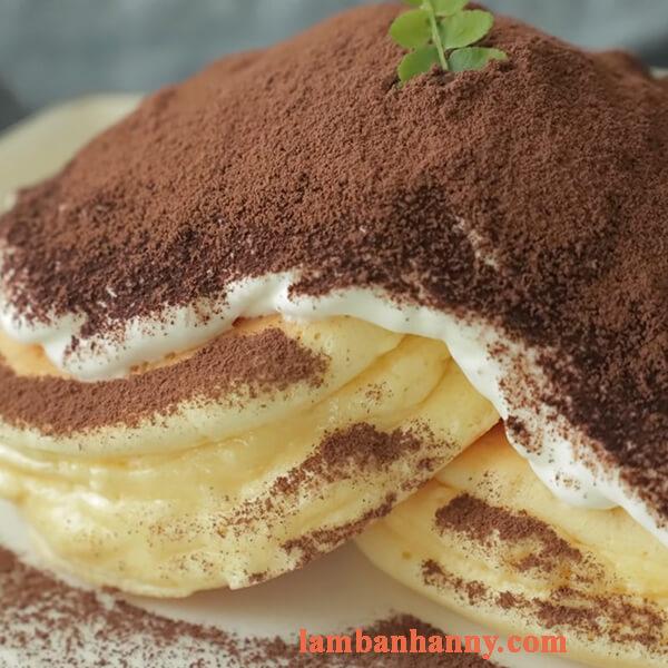Cách làm bánh pancake tiramisu phô mai béo ngậy ngon ngất ngây 3