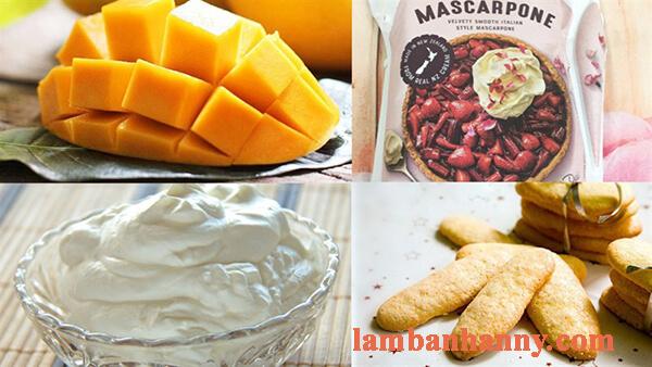 Cách làm bánh tiramisu xoài thơm ngon mới lạ không cần lò nướng 1