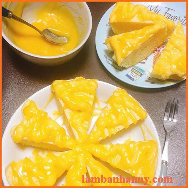 Cách làm sốt bánh lông lan trứng muối vanila