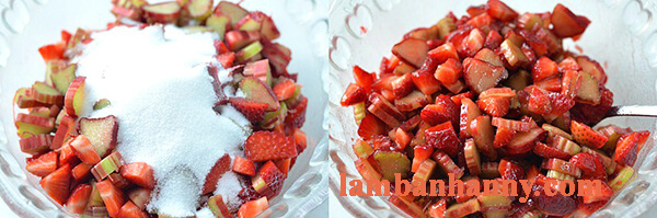 Công thức làm bánh dâu tây đại hoàng chua chua ngọt ngọt vô cùng đơn giản 3