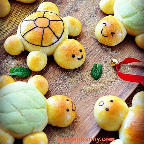 Công thức làm bánh mì rùa con đáng yêu dành cho bé 5