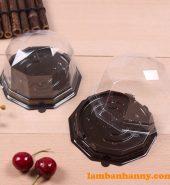 Hộp nhựa lục giác đế đen FJ95 (bánh 125-150g)