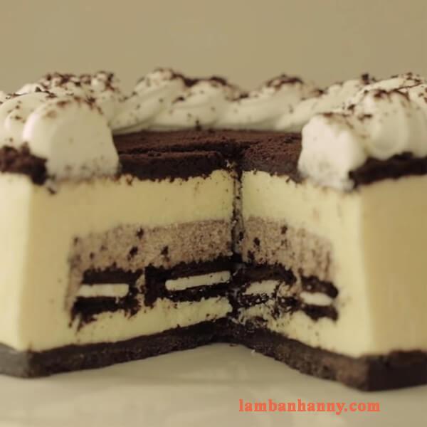 Bật mí 2 cách làm cheesecake oreo truyền thống thơm ngon hấp dẫn không cần lò nướng 6