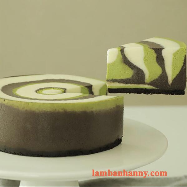 Bật mí cách làm cheesecake trà xanh ngựa vằn độc đáo thơm ngon khá đơn giản 4