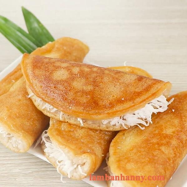 Cách làm bánh bò nướng nhân dừa bằng chảo thơm ngon đơn giản 7