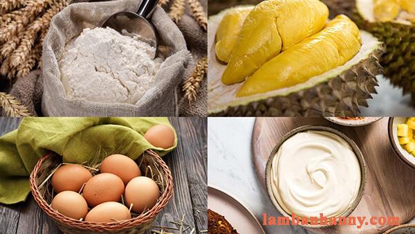 Cách làm bánh bông lan phô mai sầu riêng mớ lạ thơm ngon 2