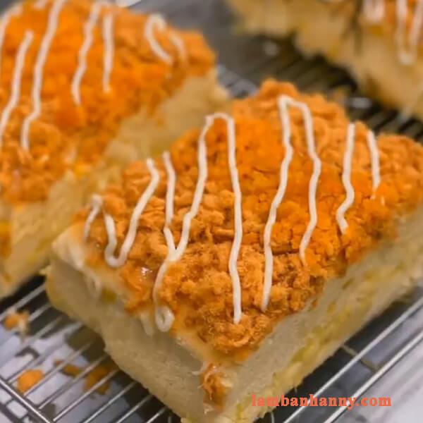 Cách làm bánh bông lan phô mai sầu riêng mớ lạ thơm ngon 3