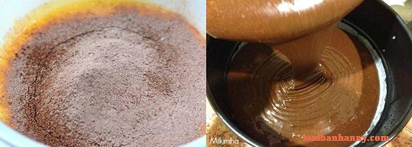 Cách làm bánh bông lan socola mềm mịn không cần lò nướng 2