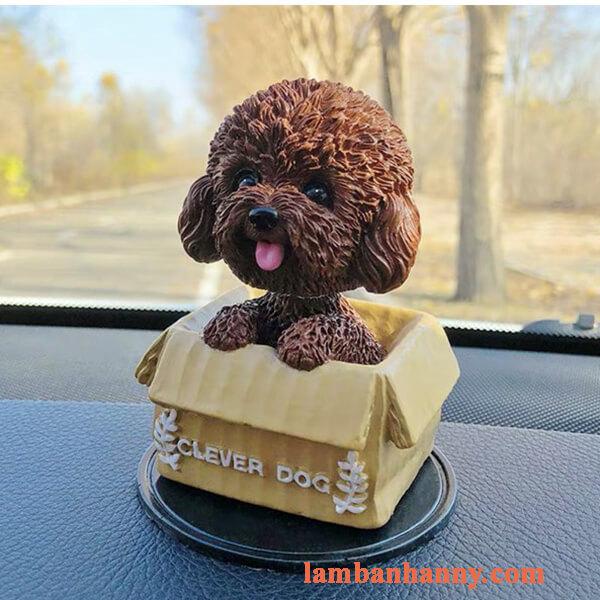 Chó poodle trang trí bánh 6
