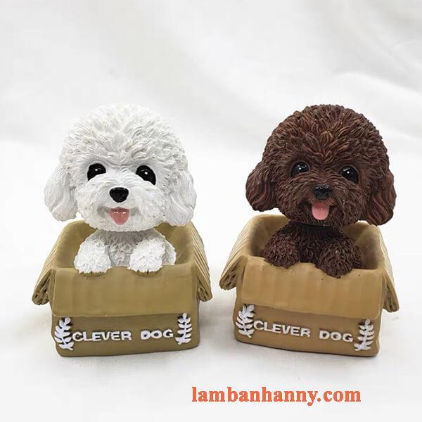 Chó poodle trang trí bánh 7