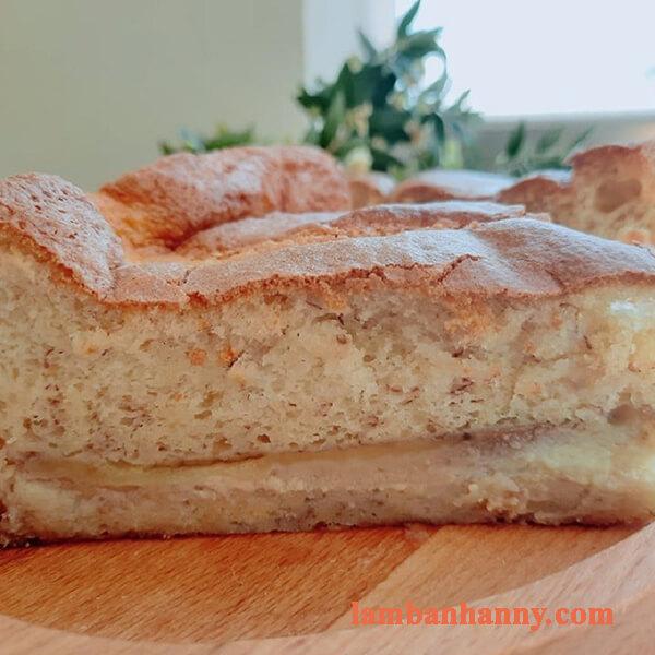 Hướng dẫn cách làm bánh bông lan chuối nước cốt dừa mềm mịn ngon khó cưỡng 4