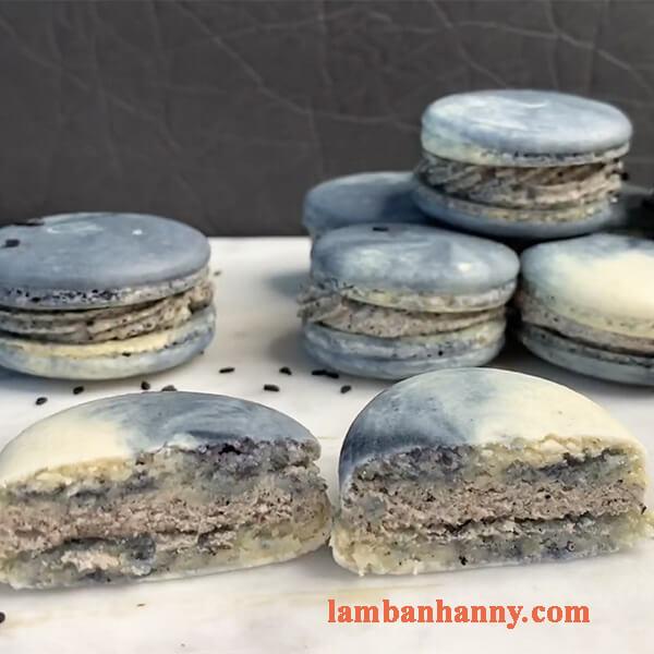 Hướng dẫn cách làm bánh macaron Pháp vị mè đen thơm ngon bất bại 7
