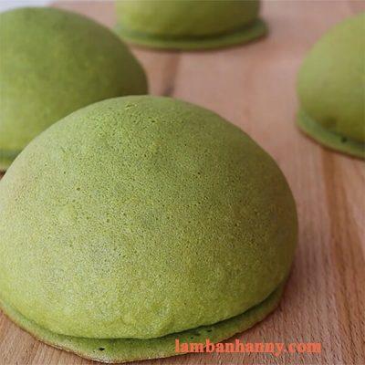 Hướng dẫn cách làm bánh papparoti trà xanh đơn giản 3