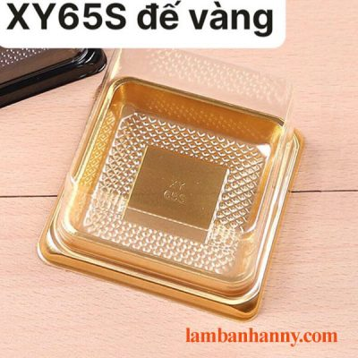 Hộp nhựa trung thu đế vàng nắp vuông XY65S (bánh 80g) 4