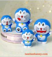 Set 4 Doraemon trang trí bánh kem