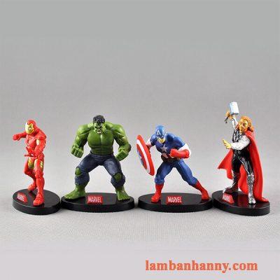 Set 4 siêu anh hùng trang trí bánh 1