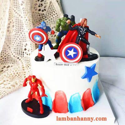 Set 4 siêu anh hùng trang trí bánh 4