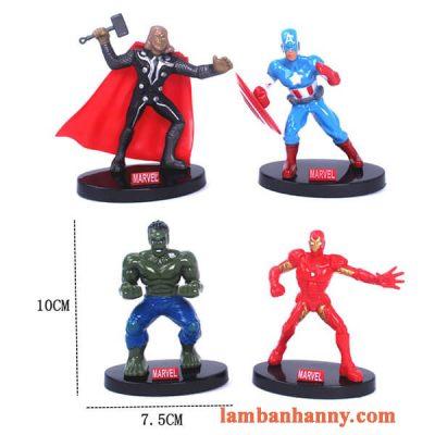 Set 4 siêu anh hùng trang trí bánh 5