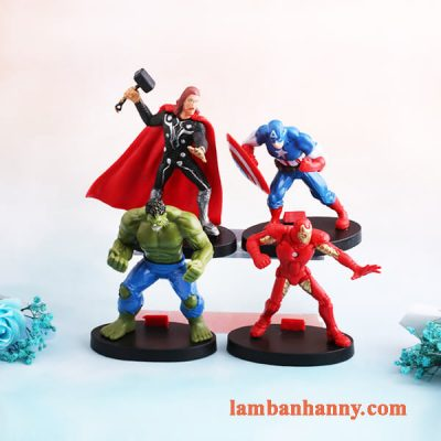 Set 4 siêu anh hùng trang trí bánh 7
