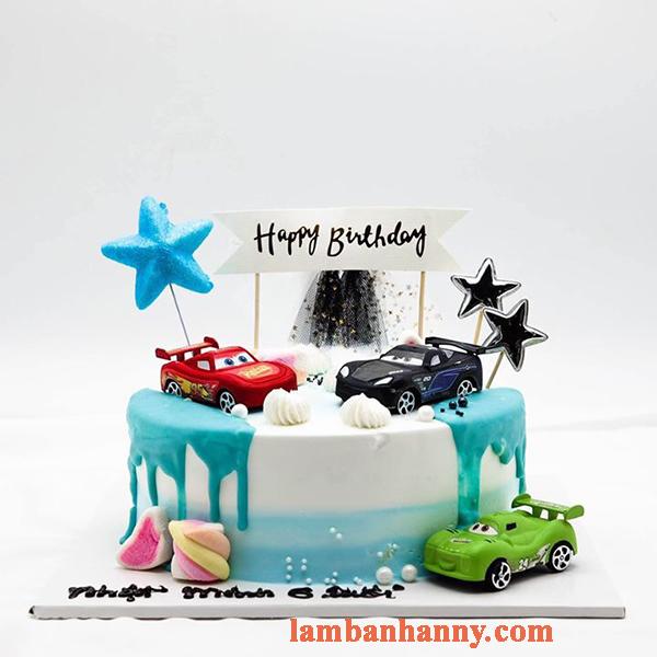 Set 4 xe ô tô trang trí bánh kem 1