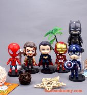 Set 6 siêu anh hùng đầu to trang trí bánh
