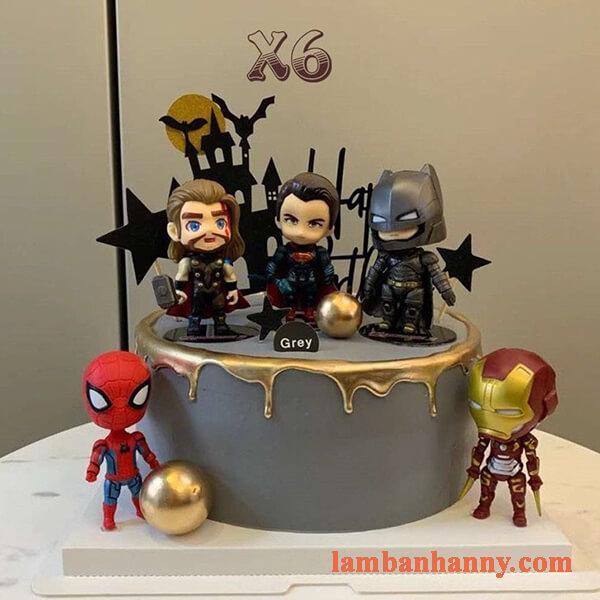 Set 6 siêu anh hùng đầu to trang trí bánh 3