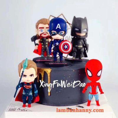 Set 6 siêu anh hùng đầu to trang trí bánh 4