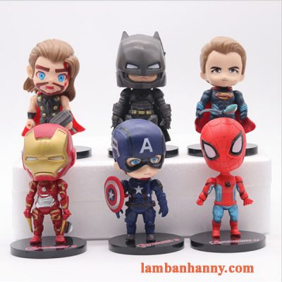 Set 6 siêu anh hùng đầu to trang trí bánh 5