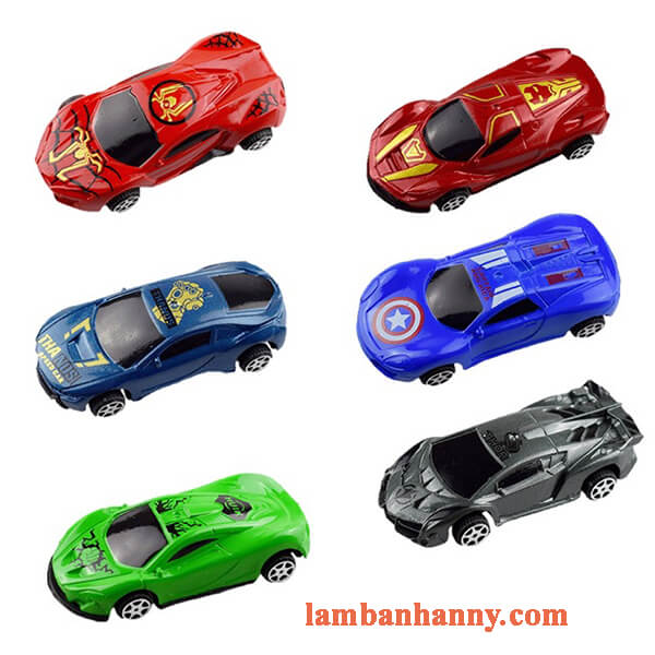 Set 6 xe ô tô trang trí bánh