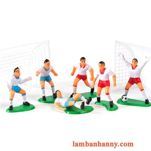 Set cầu thủ bóng đá trang trí bánh kem 5