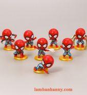 Set 8 người nhện đầu to trang trí bánh