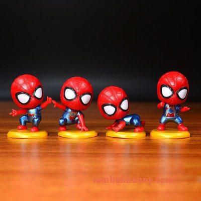 Set người nhện đầu to trang trí bánh 3