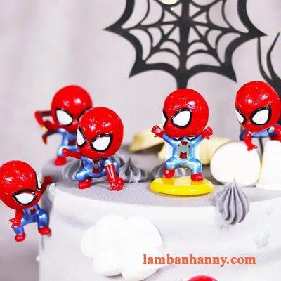 Set người nhện đầu to trang trí bánh 4